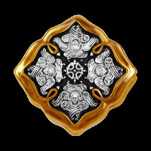 Православные серебряные бусины с позолотой. Авторские изделия.
