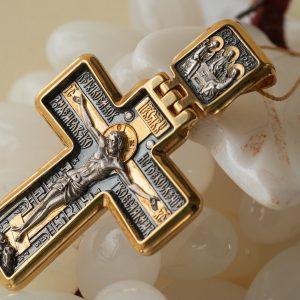 Православные серебряные крестики с позолотой. Авторские изделия.