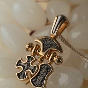 Православные серебряные кулоны с позолотой. Авторские изделия.