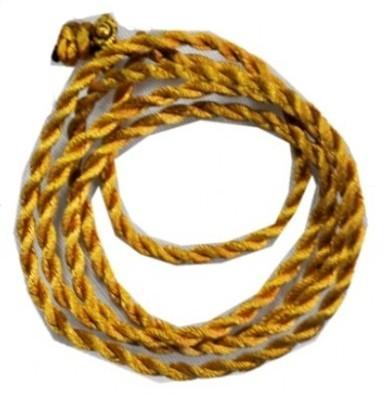 Гайтан шелковый крученый (золотой), ручная работа.