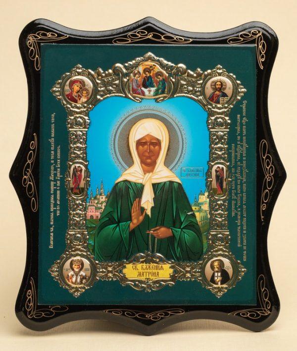 Панно деревянное, лаковое. Икона «Святая блаженная Матрона Московская»